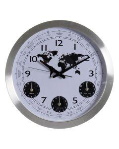 Reloj de Pared DKD Home Decor Mapamundi Aluminio Cristal (45 x 5 x 45 cm) 0