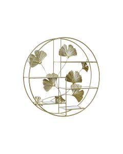 Estantería DKD Home Decor Metal Dorado Espejo (55 x 12 x 55 cm) 0