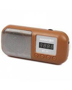 Altavoz Multimedia BRIGMTON 222999 3W Radio FM Micro SD Marrón 0