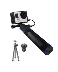 Palo Selfie con Power Bank para Cámara Deportiva KSIX 5200 mAh Negro 0