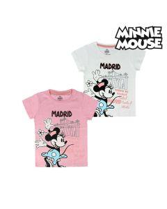Camiseta de Manga Corta Infantil Madrid Minnie Mouse 73845 0