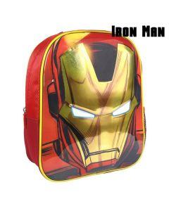 Mochila Infantil 3D Iron Man The Avengers 72613 Rojo 0