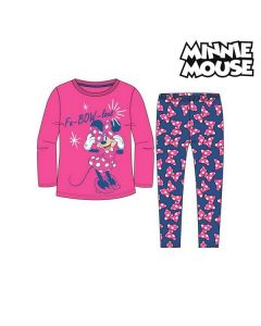 Pijama Infantil Minnie Mouse 74738 Fucsia Azul (2 Pcs) 0