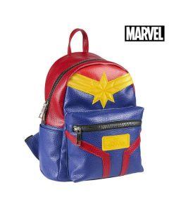 Mochila Casual Captain Marvel 72855 Azul Rojo Amarillo 0