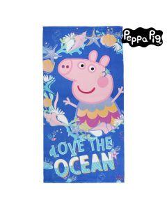 Toalla de Playa Peppa Pig 75502 Microfibra Azul marino 0
