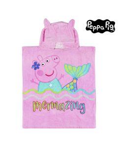 Poncho-Toalla con Capucha Peppa Pig 75513 Algodón 0