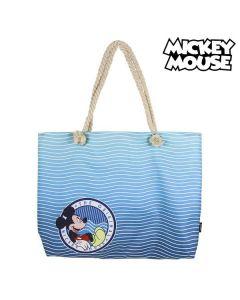 Bolsa de Playa Mickey Mouse 72926 Azul marino Algodón 0