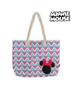 Bolsa de Playa Minnie Mouse 72927 Rosa Algodón 0
