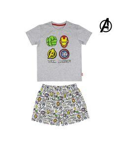 Pijama Infantil The Avengers Gris 0