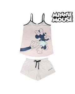 Pijama de Verano Minnie Mouse Rosa Adultos 0