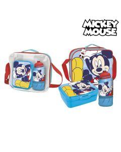 Portameriendas con Accesorios Mickey Mouse Azul 0
