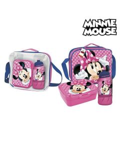 Portameriendas con Accesorios Minnie Mouse Burdeos 0
