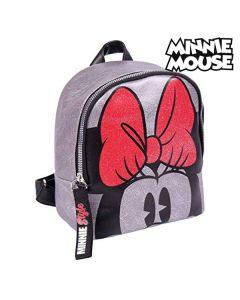 Mochila Casual Minnie Mouse (18 x 21 x 10 cm) Plateado 0
