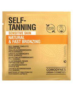 Toallitas Autobronceadoras Natural & Fast Bronzing Sensitive Skin Comodynes (8 uds) 0