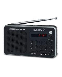 Radio Portátil Digital Sunstech RPDS32SL Plateado 0