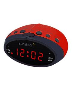 Radio Despertador Sunstech FRD16RD Rojo 0