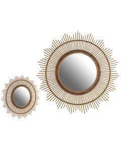 Espejo Gift Decor Natural (100 x 100 x 3 cm) 0