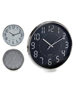 Reloj de Pared Cristal Plástico (33 x 4 x 33 cm) 0