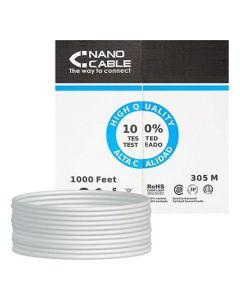 Cable de Red NANOCABLE 10.20.1704-FLEX Cat.5e UTP (305 m) Gris 0