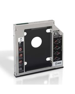 "Adaptador Metálico para 2 Discos Duros (3.5""/8,89 cm) NANOCABLE APTAPC0555 10.99.0002 Negro Metálico"