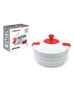 Centrifugadora para Ensalada Quttin Blanco Rojo (3 L) (ø 24 cm)