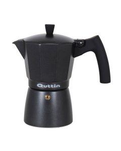 Cafetera Italiana Quttin Darkblack Inducción Negro 0