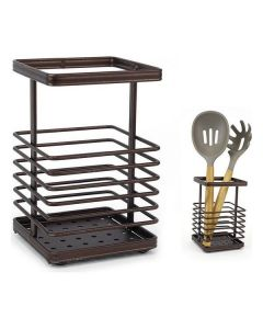 Bote para Utensilios de Cocina Confortime Metal Marrón 0
