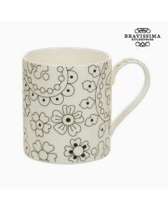 Taza Porcelana Negro Beige - Colección Kitchen's Deco 0