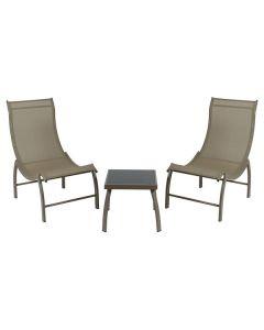 Muebles de jardín (3 pcs) Aluminio 0