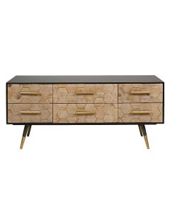 Mueble TV Madera de abeto (120 x 38 x 52 cm) 0