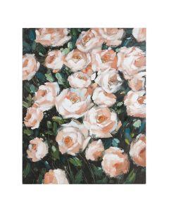 Cuadro Óleo Roses Madera de pino (80 x 4 x 100 cm)