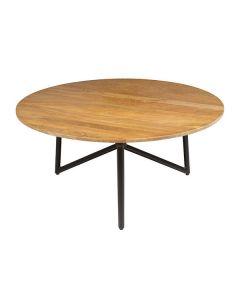 Mesa de Centro (90 x 90 x 40 cm) Redonda Madera de mango