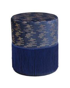Puff Madera de pino Azul (34 x 34 x 40 cm) 0
