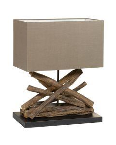 Lámpara de Mesa Madera de acacia (40 X 28 x 58 cm)