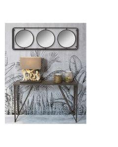 Espejo de pared Triple Cristal Hierro (131 x 10 x 45 cm) 0