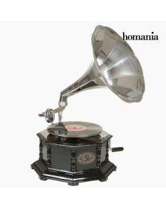Gramófono Octogonal Negro Plata - Colección Old Style by Homania