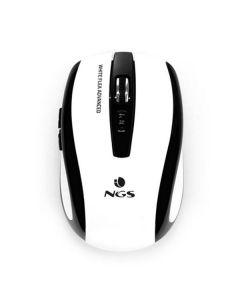 Ratón Inalámbrico Óptico NGS White Flea Advanced 800/1600 dpi Blanco Negro 0