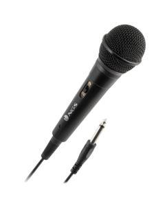 Micrófono Karaoke NGS Singer Fire Negro (6.3 mm) 0