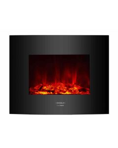 Chimenea Eléctrica Decorativa de Pared Cecotec Warm 2600 Curved Flames 2000W 0