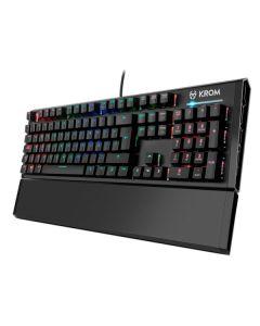 Teclado Gaming Krom Kempo LED RGB Negro