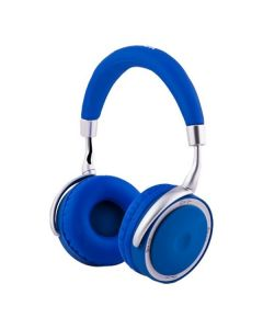 Auriculares de Diadema Plegables con Bluetooth CoolBox COO-AUB-12BL 300 mAh Azul Azul / Blanco 0