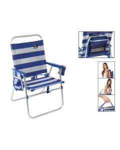 Silla Plegable 117434 Blanco Azul 0