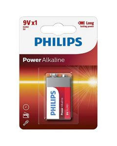 Pila Alcalina Philips 6LR61 9V 0