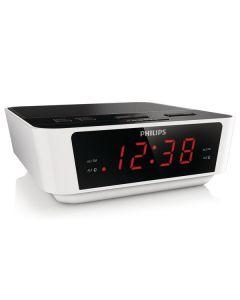 Radio-Reloj Philips AJ3115/12 LED FM 1W Blanco