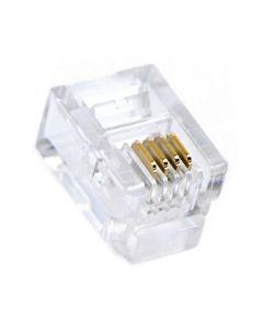 Conector RJ11 GEMBIRD MP-6P4C/100 6P4C (100 pcs) 0