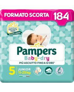 Pañales Desechables Pampers Baby Dry Junior (Talla 5) (11-25 kg) (Reacondicionado B) 0