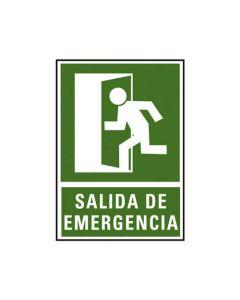 Placa señalizacion a. 2000 salida emergencia 224x327 mm. (01c6170-02ve) 0