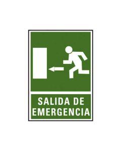 Placa señalizacion a. 2000 salida emergencia izda. 224x327 mm. (01c6170-03ve) 0