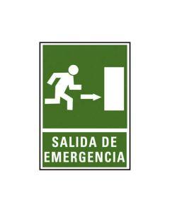 Placa señalizacion a. 2000 salida emergencia dcha. 224x327 mm. (01c6170-04ve) 0