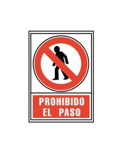 Placa señalizacion a. 2000 prohibido el paso 210x297 mm. (01c6174-05 rj) 0